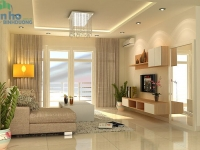 Design plasterboard ceiling living room apartment Binh Duong