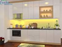 Design kitchen kitchen cabinets apartment Binh Duong