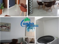 Sale of fully furnished 2-bedroom Habitat apartment on 12-A1 floor, 62 m2, view SG